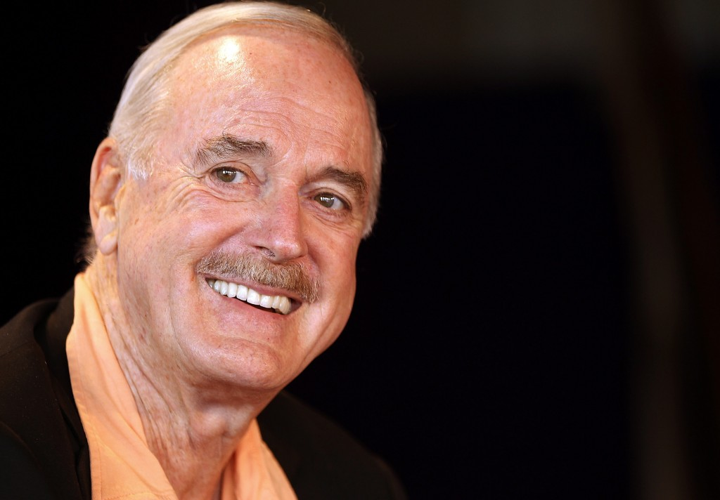 SYDNEY, AUSTRALIA - AUGUST 31: John Cleese announces the start of the very first Just for Laughs at Sydney Opera House on August 31, 2011 in Sydney, Australia. (Photo by Mark Metcalfe/Getty Images)