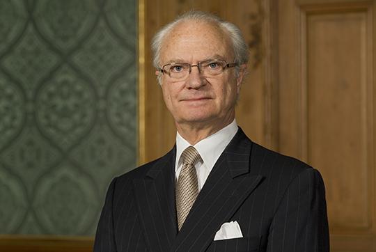 ok Kung Carl XVI Gustaf fotograferad i Lovisa Ulrikas matsal på Kungliga Slottet i Stockholm i januari 2013.