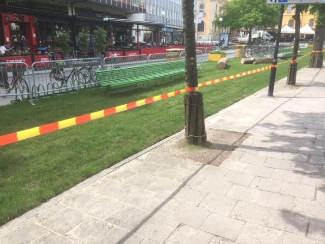 gröna gatan stängd