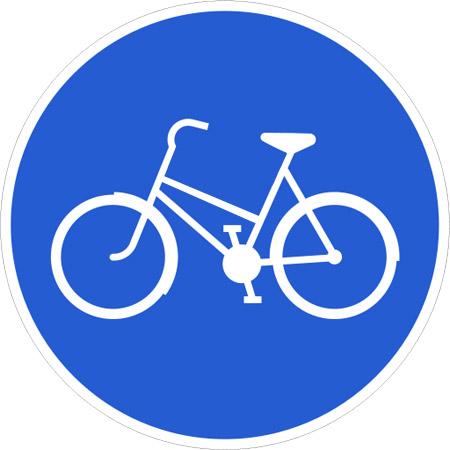 cykelbana skylt
