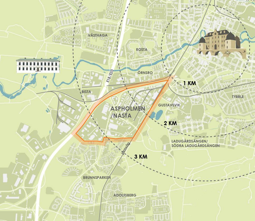 Karta över Örebro orientering  byggnader